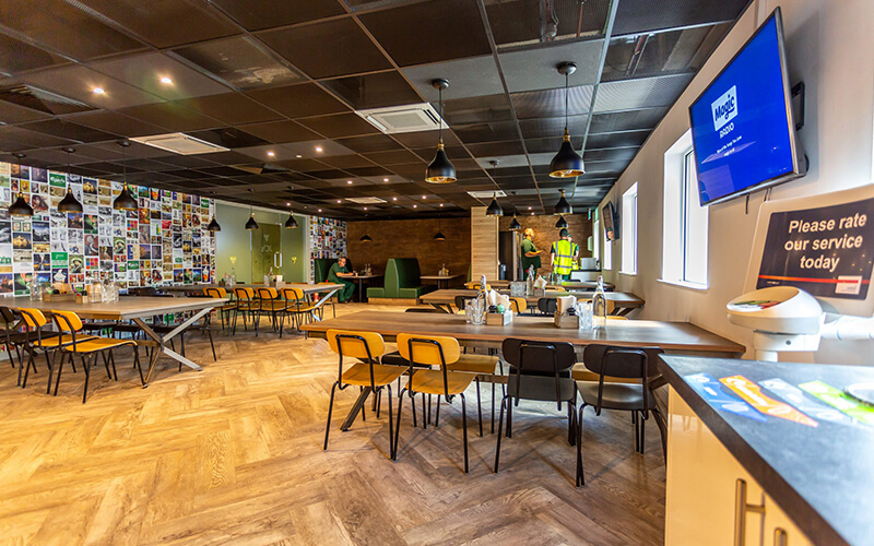 Carlsberg Northampton Canteen Design and Fit Out | ACS 365