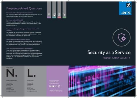 Security as a Service Brochure Cover | ACS 365